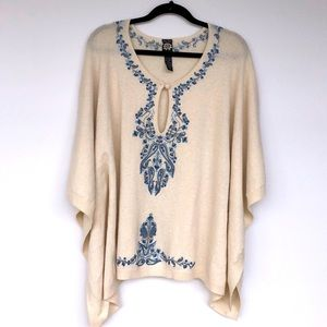 Lucky Brand Suitable for Framing Wool Blend Poncho